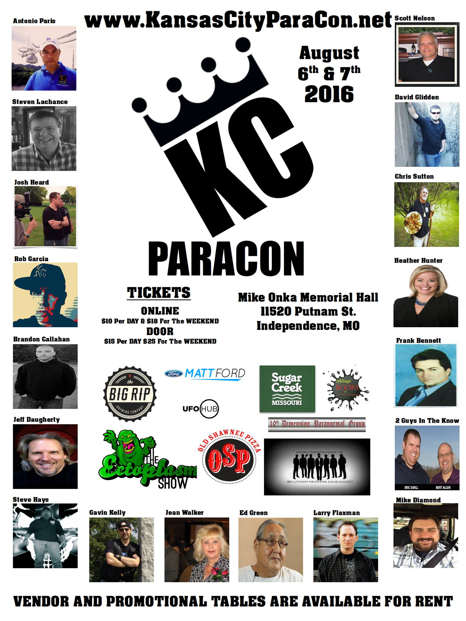 Kansas City ParaCon @ Mike Onka Memorial Hall   | Sugar Creek | Missouri | United States