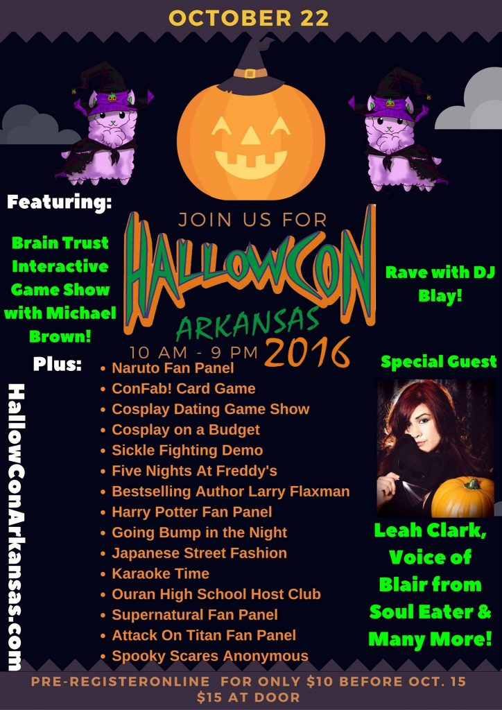HallowCon Arkansas @ Hilton Garden Inn | North Little Rock | Arkansas | United States