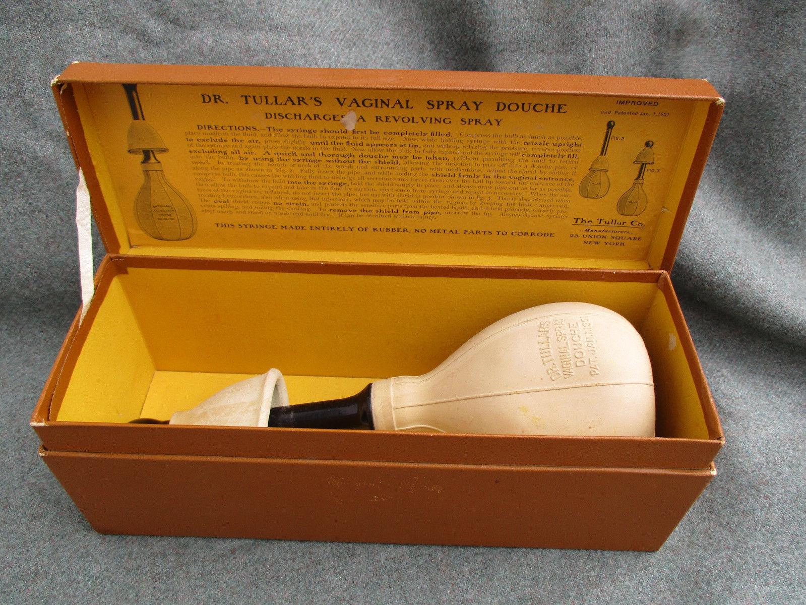 vintage 1901 dr tullars vaginal spray douche kit. Black Bedroom Furniture Sets. Home Design Ideas