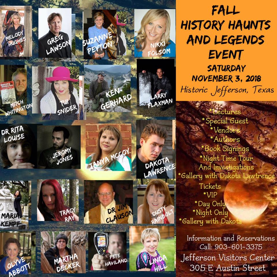 History Haunts and Legends - Fall Event - 2018 @ Jefferson Tourism and Visitor Center  | Jefferson | Texas | United States