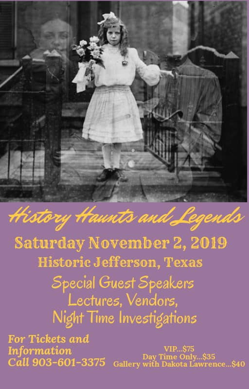 History Haunts and Legends - Fall Event - 2019 @ Jefferson Tourism and Visitor Center | Jefferson | Texas | United States